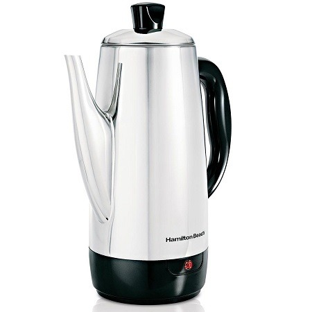 Hamilton Beach Stainless-Steel 12-Cup Electric Percolator