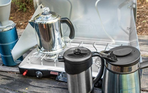 Making Coffee On Camping