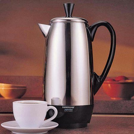Cup Of Coffee From Farberware 12-Cup Percolator