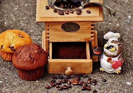 Coffee Grounds and Muffins